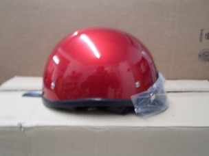 Scooter helmet 1/2 with visor red