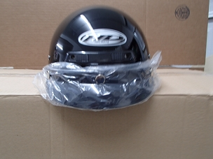 Scooter helmet 1/2 with visor black