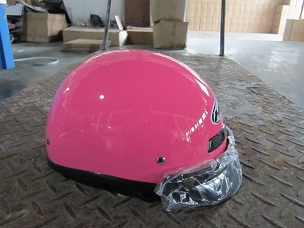 Scooter helmet 1/2 with visor pink