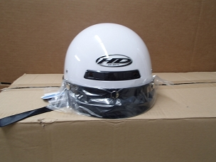 Scooter helmet 1/2 with visor white