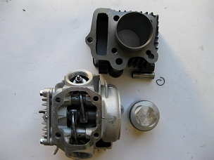 Cylinder and head kit for 139 FMB engine for Chinese scooters