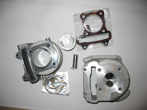 61 mm cylinder kit and head for the GY6 150cc Chinese scooter