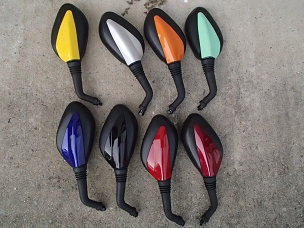 Painted mirrors with for Chinese scooter with 8 mm thread