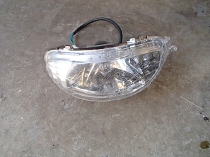Headlight assembly for Chinese scooter