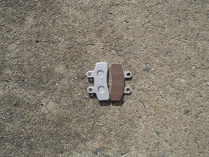 Disk brake pads for Chinese scooter, type D