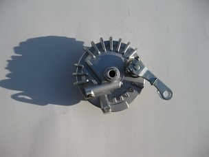 Front brake drum assembly for Chinese scooter