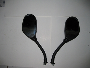 Universal black mirrors with 8 mm thread type B