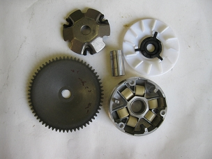 Variator assembly for 50cc Chinese scooter