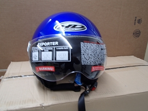 Scooter helmet 3/4 with windscreen blue