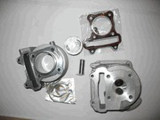 Cylinder kit and head for GY6 150cc engine