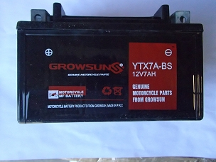 Battery for Chinese scooter YTX7A-BS.