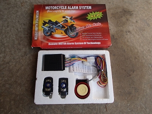 Alarm system with remote start for Chinese scooter